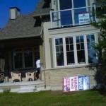 Back porch of balsam lake cottage rental