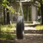 tire swing at the balsam lake cottage rental